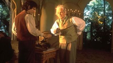 Ian Holm as Bilbo Baggins in Lord of the Rings