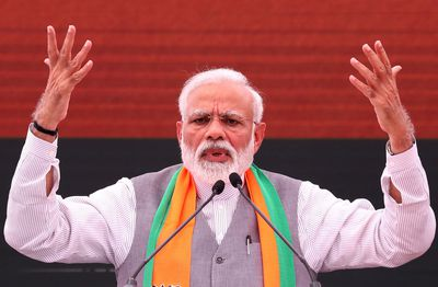 Modi bids for re-election