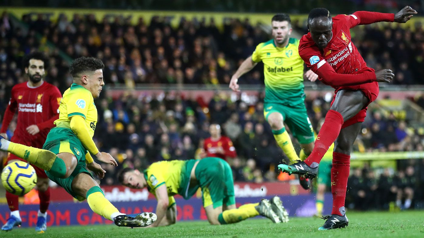 Liverpool five wins away from EPL title after Sadio Mane goal downs Norwich