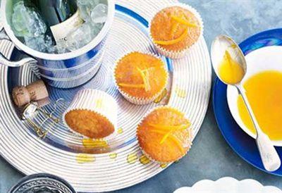 """Recipe: <a href=""""/recipes/iorange/8349517/orange-cupcakes-with-burnt-orange-drizzle """" target=""""_top"""">Orange cupcakes with burnt-orange drizzle</a>"""