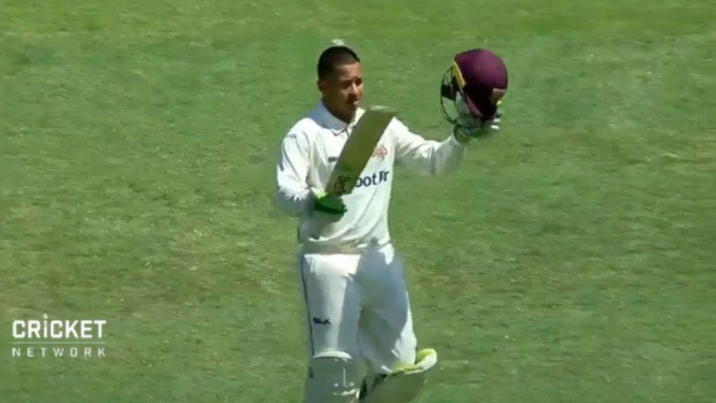 Khawaja scores century