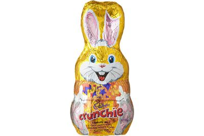 Cadbury Crunchie bunny: 103 minutes of moderate cycling on a stationary bike