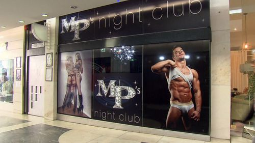 Gay nightclub MP's ordered to remove sexually explicit images from its front entrance. Picture: Nine