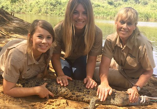 Natalia Cooper joined the Irwins on their annual croc trip. (Supplied)