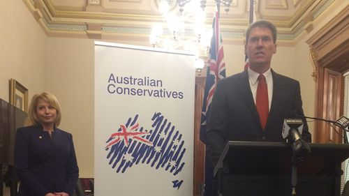 Rachel Carling-Jenkins has joined the Australian Conservatives. (9NEWS / Andrew Lund)