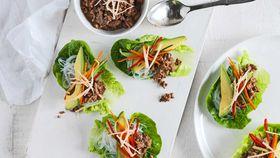 Japanese style lettuce wraps