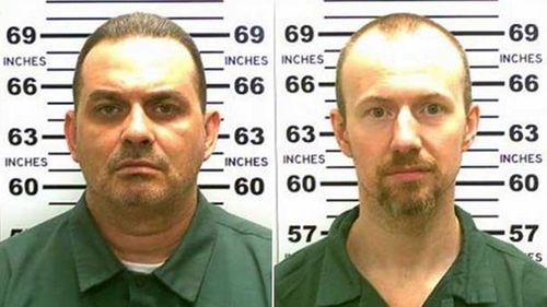 David Sweat (left) and fellow inmate Richard Matt, who was earlier shot dead. (Supplied)