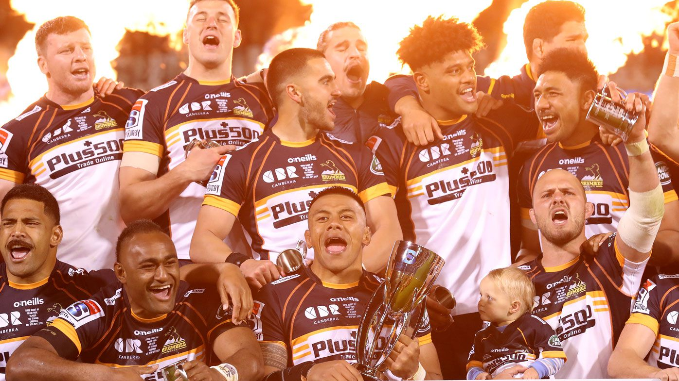 Brumbies claim the 2020 Super Rugby title. (Getty)