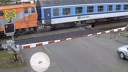 Incredible train near misses