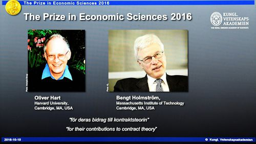 Contract theory earns pair Nobel Economics Prize