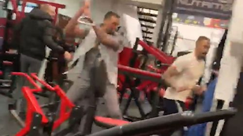 The fight broke out at the Ab Salute Gym in Essex.