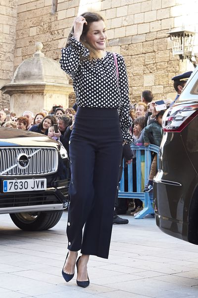 Queen Letizia at the Easter mass in Palma de Mallorca, Spain, in April 2018