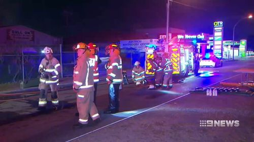 Firefighters contained the blaze from spreading to other buildings.
