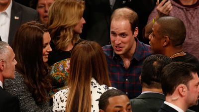 When the royals met pop royalty Beyonce and husband Jay Z at the game. (AAP)