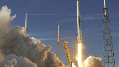 Reusable rocket blasts off