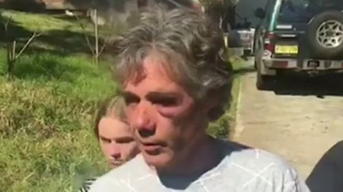 Geoff Robson-Court was allegedly injured as he tried to stop the stabbing. (9NEWS)