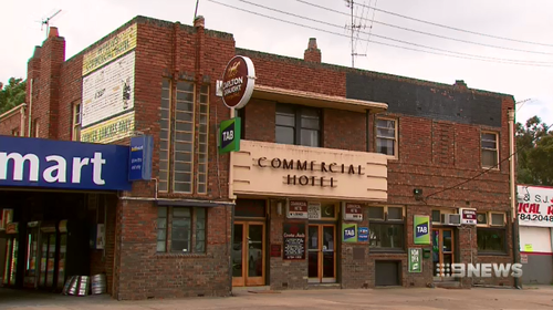 The two men were kicked out of the Commercial Hotel in Broadford, north of Melbourne after losing a game of Blackjack.