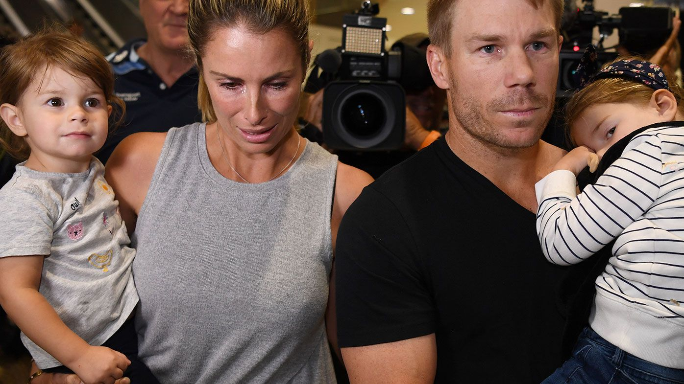Candice and David Warner