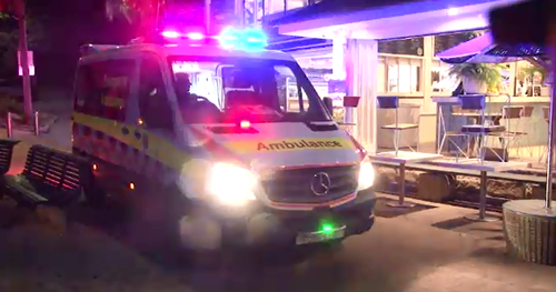 Emergency services were called just before 6am after reports a man was bitten by a shark.