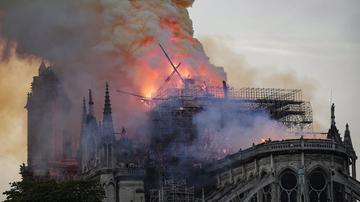 Notre Dame fire news paris