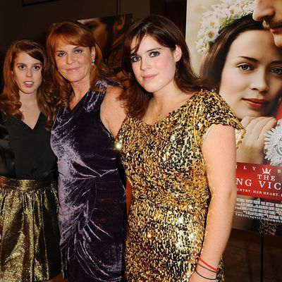 Princess Beatrice at the premiere of <em>The Young Victoria</em>