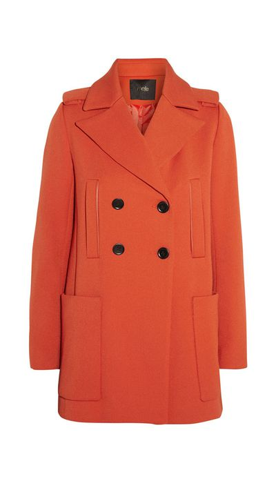 "<a href=""http://www.theoutnet.com/en-AU/product/Maje/Twill-coat/557142""> Twill Coat, $330, Maje </a>"