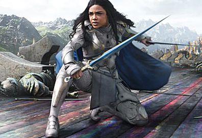 Tessa Thompson as Valkyrie in Thor: Ragnarok (Marvel/Disney)