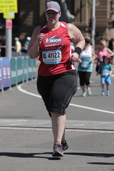 Christie in the Blackmores running event