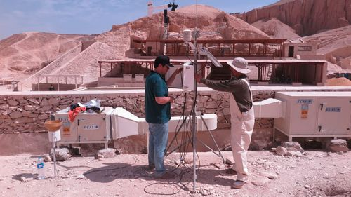 Environment monitoring outside the burial chamber of the tomb of Tutankhamun. Courtesy of J Paul Getty Trust