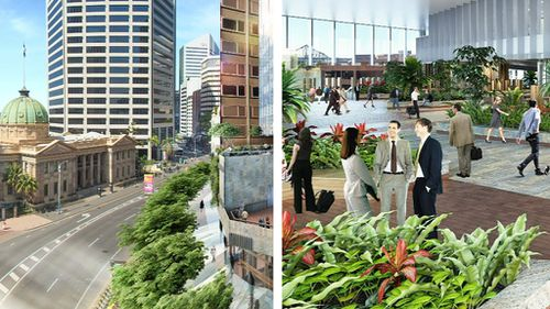 The design is set to fuel the greenspace movement in Brisbane. (9NEWS)