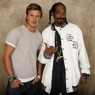David Beckham and Snoop Dog