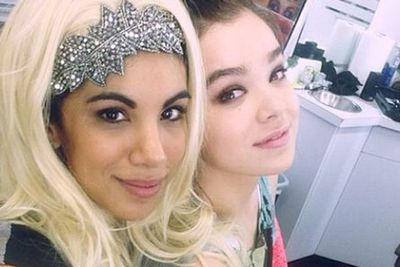 "@chrissiefit: ""Just a totally normal picture of us @haileesteinfeld #pitchperfect2 #pp2"""