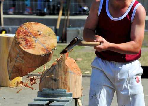 Wood chopping is a big attraction at the show. (AAP)