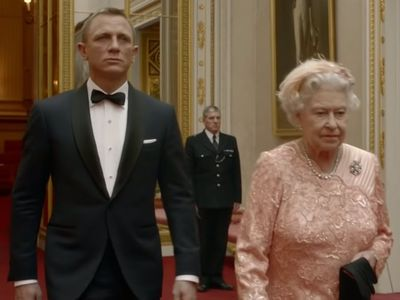 The Queen teams up with James Bond for the London Olympics, July 2012