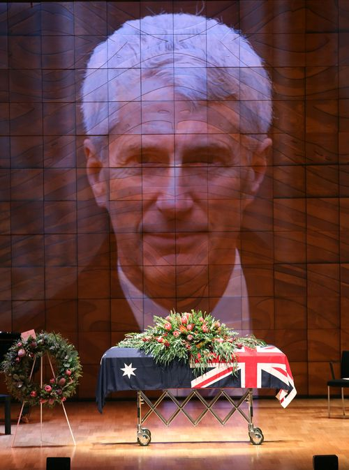 The service was held at the Melbourne Recital Centre. (AAP)