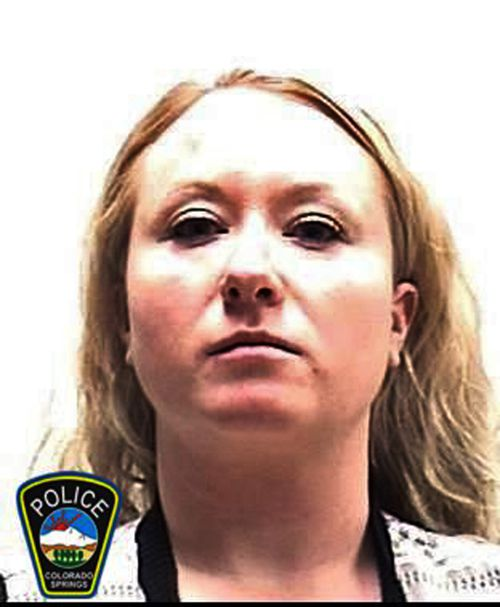 Krystal Kenney, 32, has pleaded guilty to a charge that she tampered with evidence (Colorado Springs Police Department via AP)