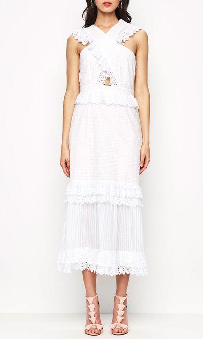 "<a href=""https://www.alicemccall.com/everything-she-wants-dress-procelain.html"" target=""_blank"">Alice McCall everything she wants dress</a>, $420"