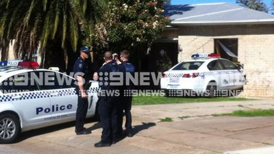 Police car ploughs into home