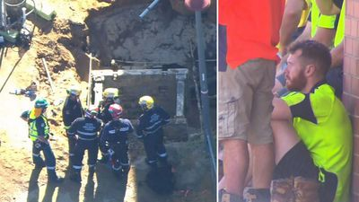 Construction worker dies after falling into trench filled with water