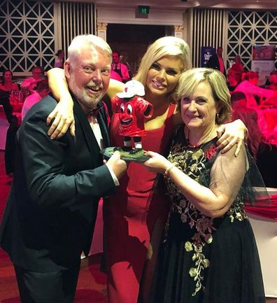Sophie Monk with Bruce and Denise Morcombe