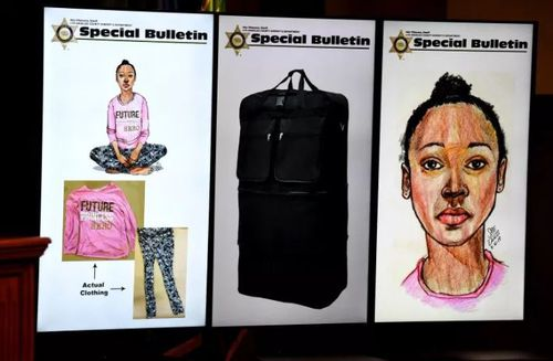 Police try to ID young girl found dead in duffel bag