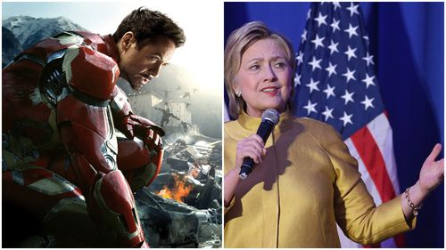 Iron Man would vote for Hillary Clinton for US President, Robert Downey Jr says