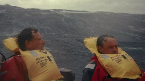 The men in the life rafts suffered a long ordeal.