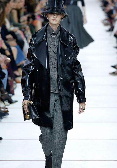 Madison Weik walks on the runway during the Christian Dior Ready To Wear Fashion Show at Paris Fashion Week.