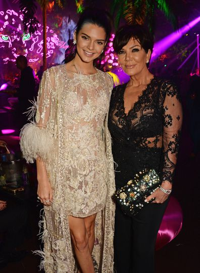 Kendall Jenner and Kris Jenner attend the Chopard Wild Party during the 69th Annual Cannes Film Festival at Port Canto on May 16, 2016 in Cannes.