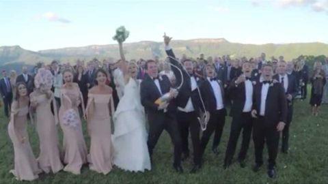 Sylvia Jeffreys and Peter Stefanovic wedding