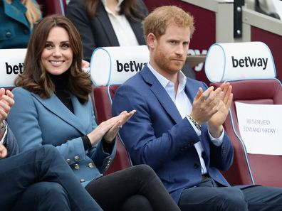 Kate Middleton and Prince Harry in 2017