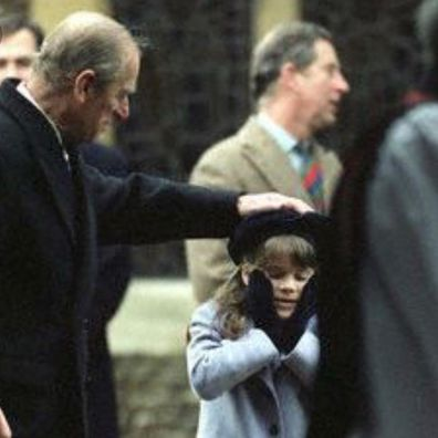 Prince Philip with a young Princess Eugenie in a flashback photo shared by the royal following her grandfather's death