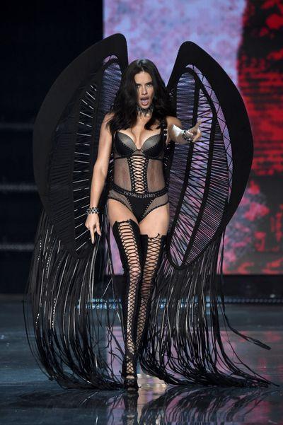 Adriana Limaat the Victoria's Secret 2017 runway show in Shanghai.