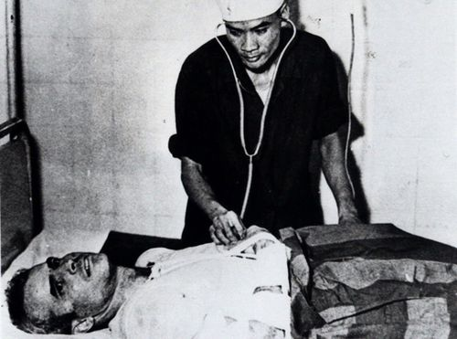 John McCain is administered to in a Hanoi, Vietnam hospital as a prisoner of war in the fall of 1967. (AAP)